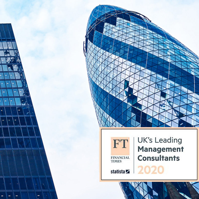 A 'UK Leading Management Consultancy' for third consecutive year banner image